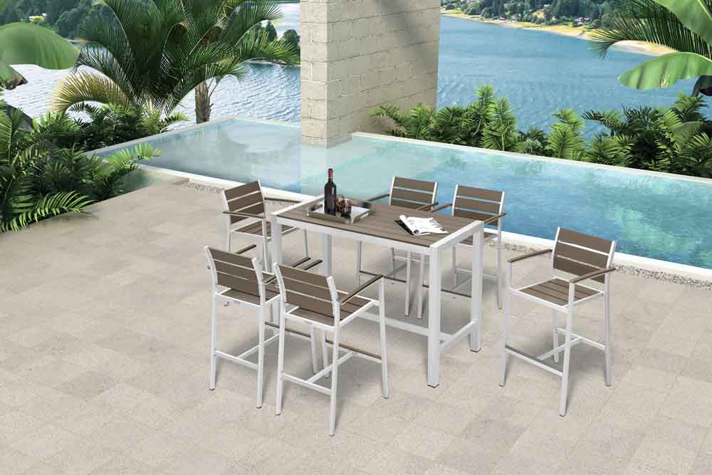 Patio High Top Bar Furniture Bar Height Patio Table And Chairs - Venice