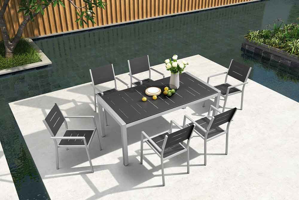 Dining Outdoor Furniture 7 Piece Patio Sets - Camila