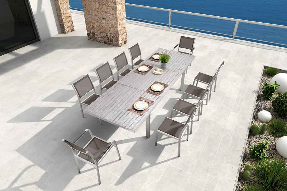 All Weather Patio Furniture Aluminum Outdoor Dining Set - Sandra