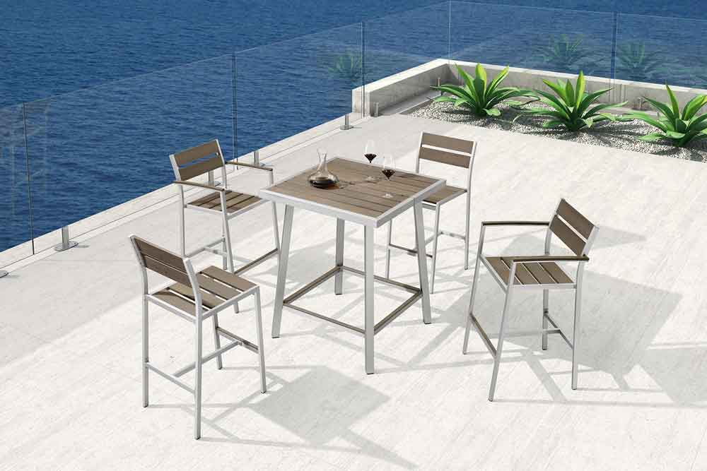 Contract Furniture Outdoor Tall Tables Bar Height Patio Furniture - Troy