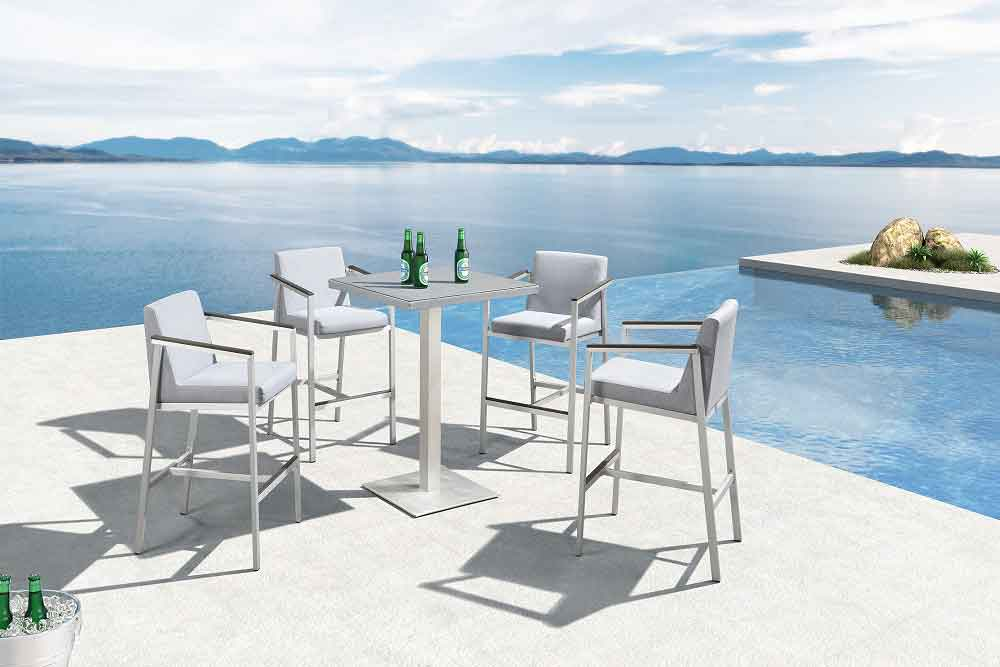 Outdoor High Table Bar Height Patio Furniture For Project - Oslo