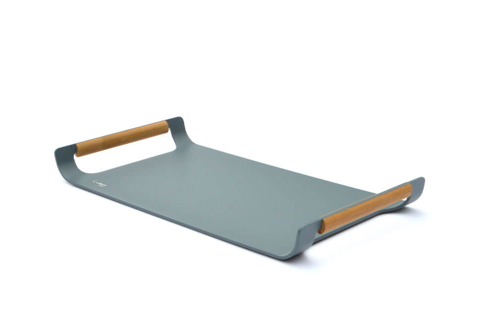 Modern Outdoor Serving Tray With Handles - Saga