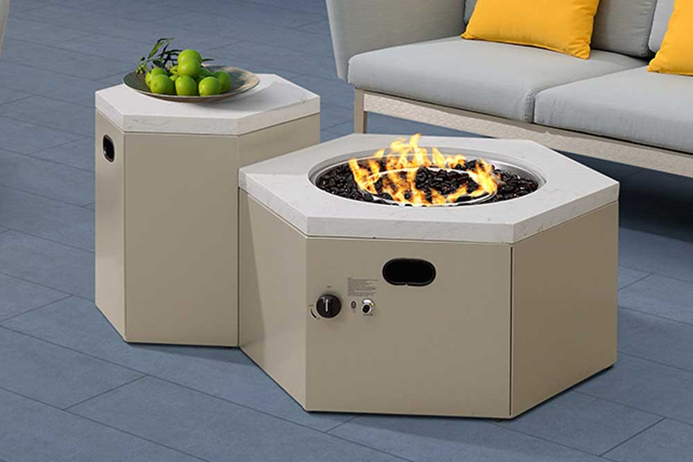 Outdoor Furniture Freestanding Patio Gas Fire Pit For Villa - Blaise