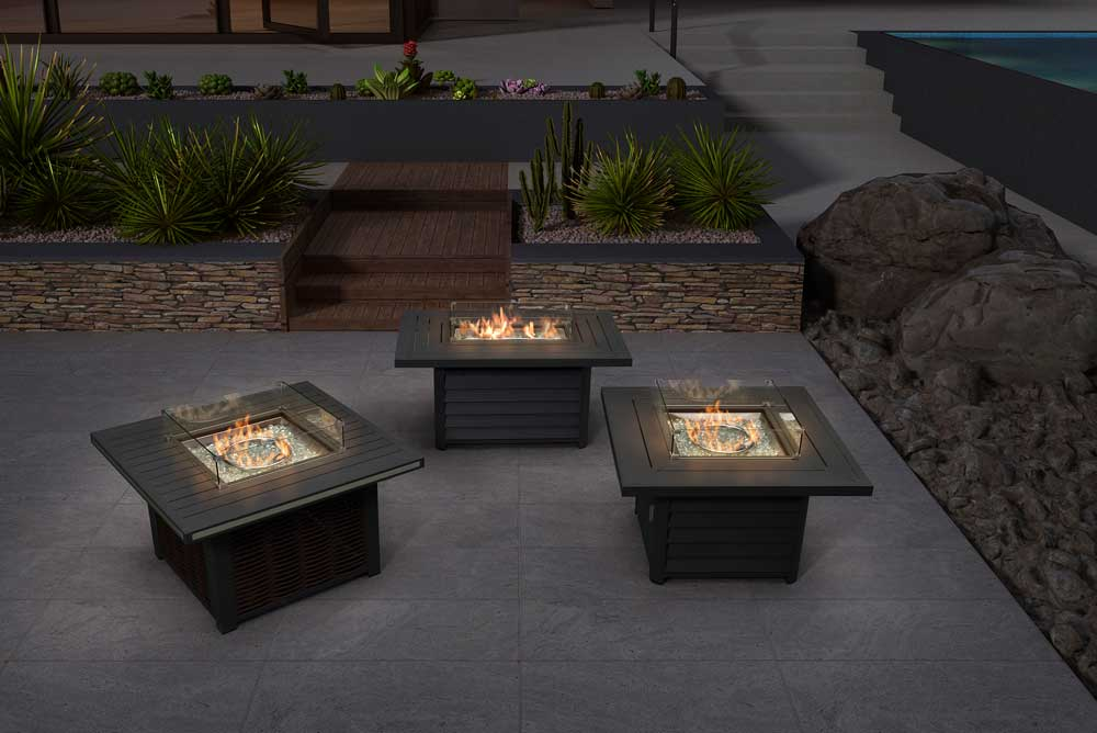 Event Furniture Outside Firplace Propane Gas Fire Pit Table - Angus/Lori/Cosmo
