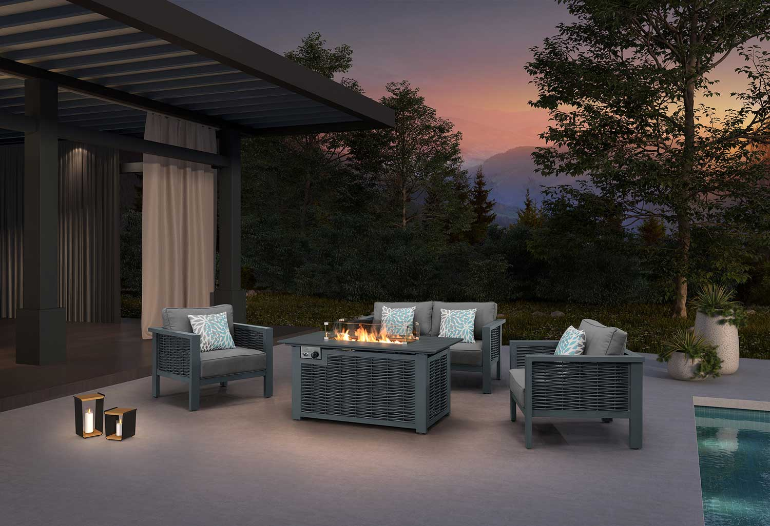 Tabletop Propane Fire Pit
